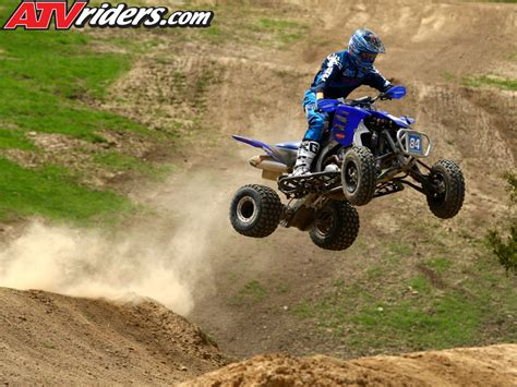 motocross atv kawasaki s chad wienen atv motocross track with yamaha s
