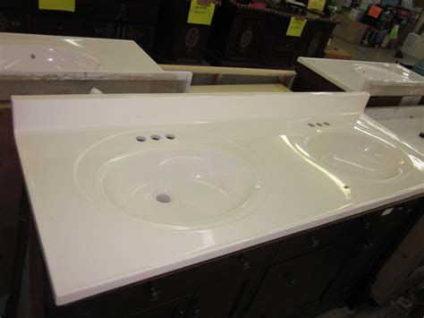 What Is Cultured Marble Countertops by 61 X 19 Standard White Cultured Marble Vanity Tops 189 00