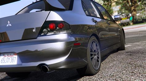 mitsubishi evo modded mitsubishi lancer evolution ix mr add on gta5 mods com