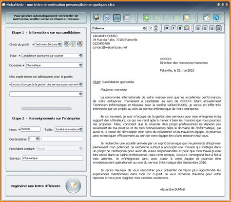 Lettre De Motivation Par Email 7 Lettre De Motivation Par Mail Lettre De Preavis