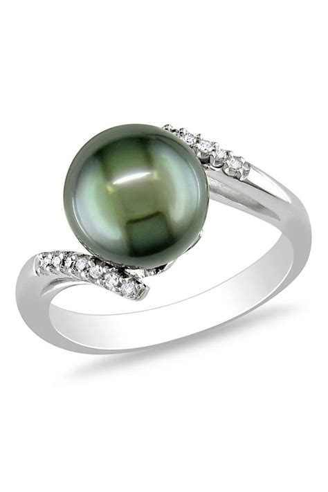 tahitian pearl ring sparklers