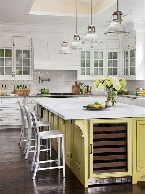 Kitchen Island With Refrigerator by Kitchen Island Wine Fridge Transitional Kitchen Bhg