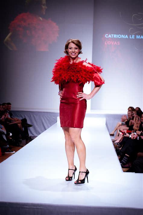 fashion has heart charity extravaganza file catriona le may doan wears lovas heart and stroke