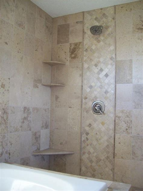 St Paul Bathtub Surround by Mosaic Tile Accent In Tile Shower Installed By A St Paul Tile Contractor For The Home