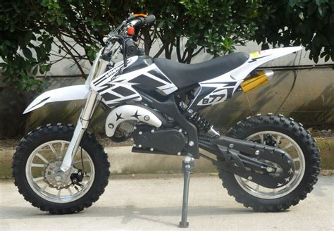 white motocross kxd01 50cc mini dirt bike with full suspension in stock