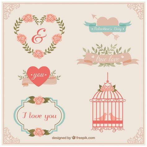 imagenes amor vintage elementos de amor vintage descargar vectores premium