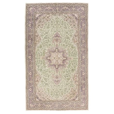Mauve Rugs by Vintage Kayseri Rug In Soft Mauve Green Pink And Beige