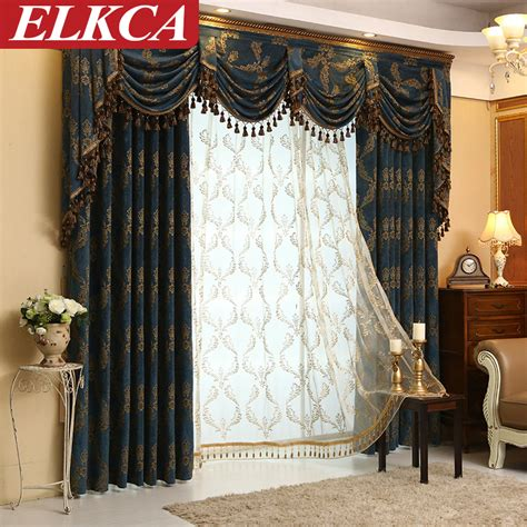 Luxury Modern Curtains Decor Modern Jacquard Luxury Curtains Living Room Curtains For Bedroom Window Drapes Thick