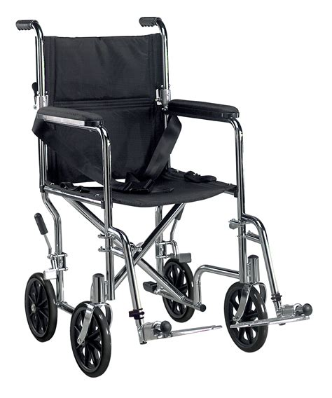 19 go cart light weight steel transport chair w footrest