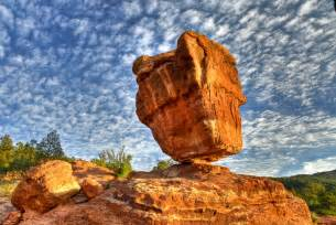 Balanced Rock Garden Of The Gods On Black Balanced Rock Garden Of The Gods By Robin Wilson Large