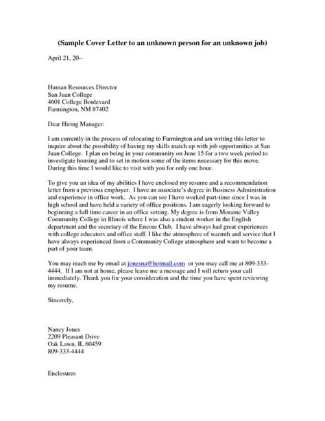 Cover Letter Unknown Recipient 95 Best Images About Cover Letters On