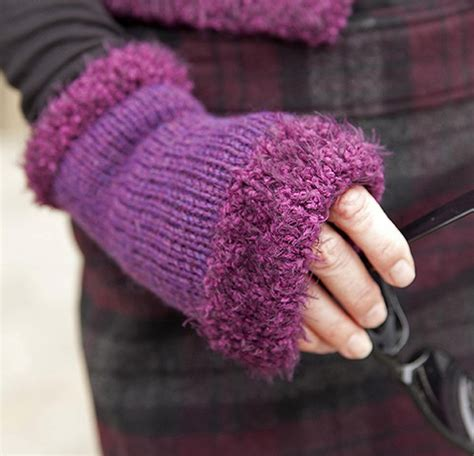 knitting pattern hand warmers wrist and hand warmer knitting patterns in the loop knitting