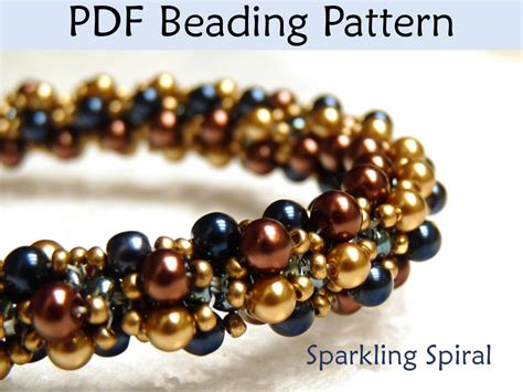 seed bead weaving tutorials jewerly patterns beading tutorial sprial stitch