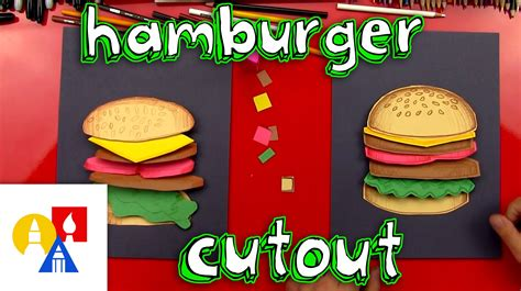 How To Make A Paper Hamburger - how to make a hamburger cutout