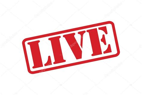 live on live rubber st vector a white background stock