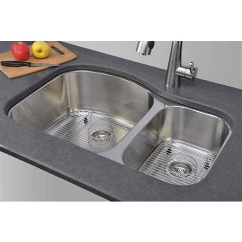kitchen sinks chicago series stainless steel double bowl