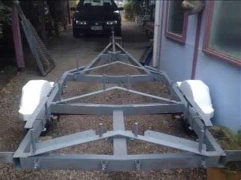 boottrailer bouwen how to build a boat trailer youtube