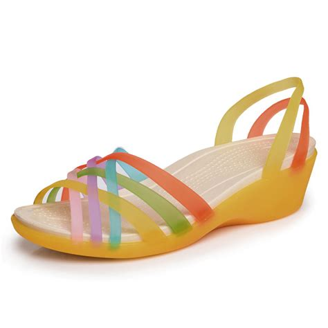 croc jelly sandals sandals 2017 summer new color peep toe stappy