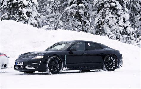 Spyshots Porsche Mission E Vs New Porsche 911 Prototype