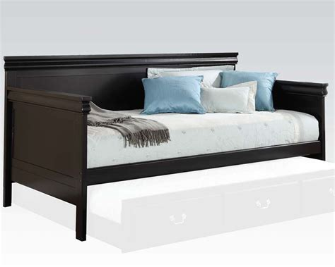 black day bed acme daybed in black finish ac39095