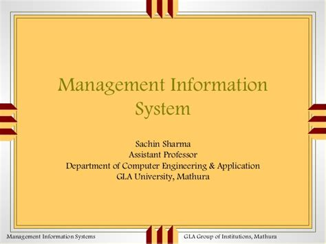 Information Systems Mba by Mba Lecture1