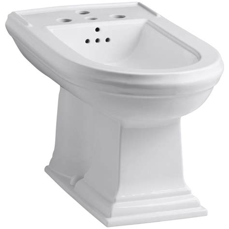 bidet in kohler memoirs elongated bidet in white k 4886 0 the
