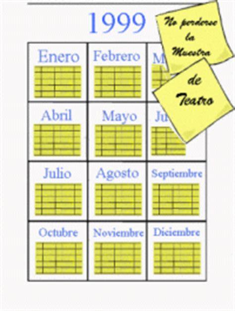 Calendario De 1999 Calendar 1999 Calendar Template 2016