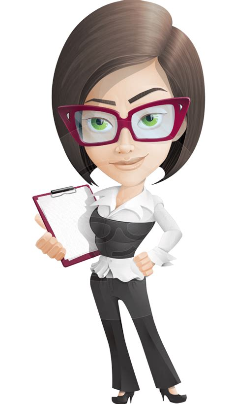 vector business woman cartoon character jenna elegance