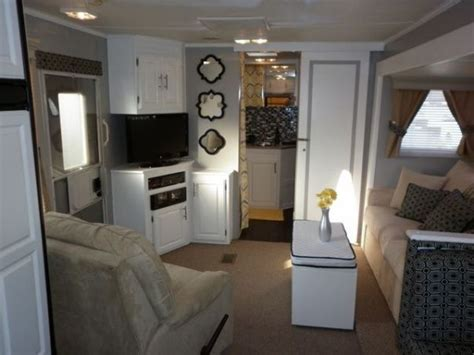rv renovation rv remodeling on pinterest 5th wheels toy hauler and cers