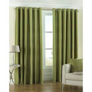 Green Colour Curtains Ideas Faux Silk Lime Eyelet Curtains