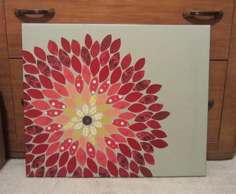 Egret Effects: Paper flower mosaic.