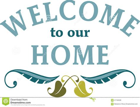 welcome to our home stock photo image 57158328