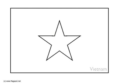 vietnam flag free colouring pages