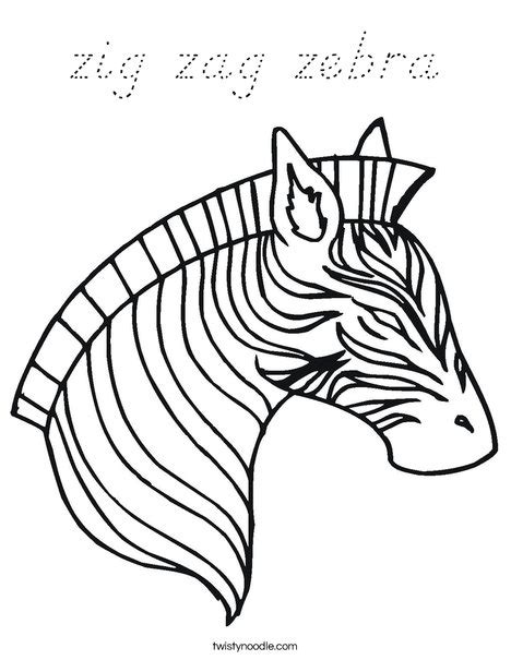 Zebra Outline Picture by Zebra Outline Coloring Page Coloring Pages