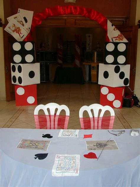 vegas themed party bunco decorations use boxes to make dice decor party
