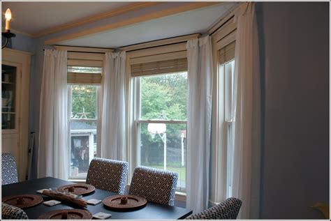 bay window double curtain rods double curtain rod bay window download page home design