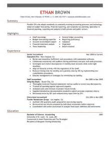 brilliantly formatted resume exles accounting 2017