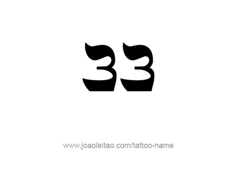 design number definition thirty three 33 number tattoo designs page 2 of 4