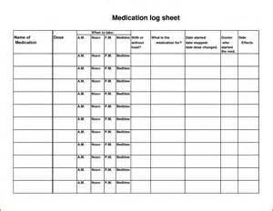 13 medication log sheet plantemplate info