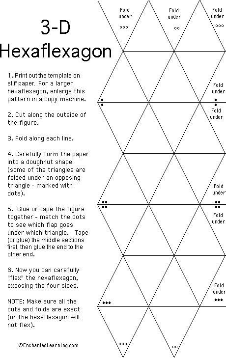 printable flextangle hexaflexagon fun for the kids silhouette ideas