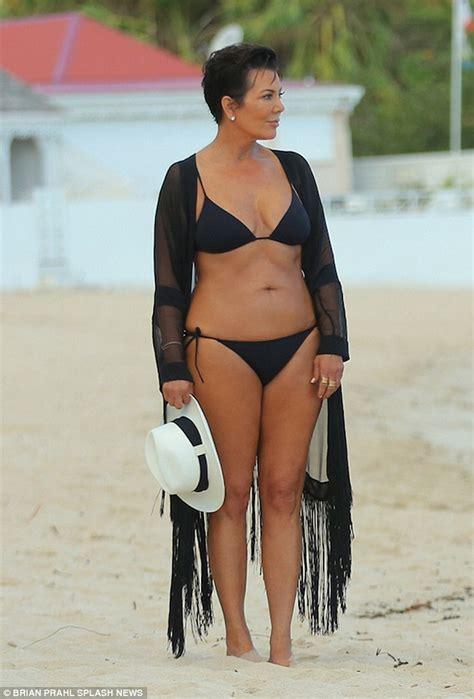 kris jenner hairstyle pictures instagram 2015 hot mamas kris jenner kim kardashian hit the beach in