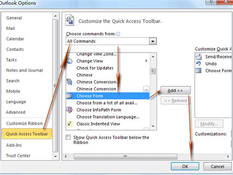 outlook 2007 template shortcut how to add shortcuts to template in ribbon in outlook