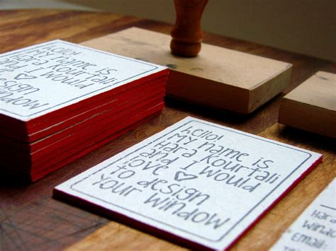 Handmade Business Cards - handmade business cards on behance