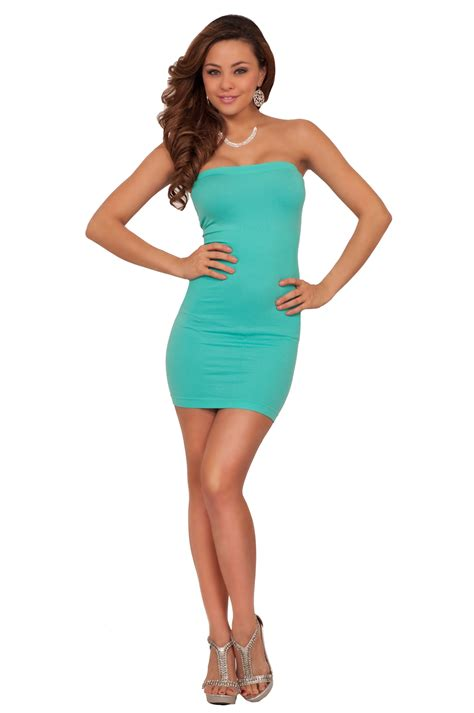 Mini Dress Casual seamless strapless fitted casual day mini dress hotfromhollywood