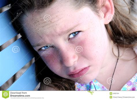 youngest looking women young girl looking hot and tired stock images image 5402164