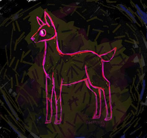 neon deer by odettery on deviantart