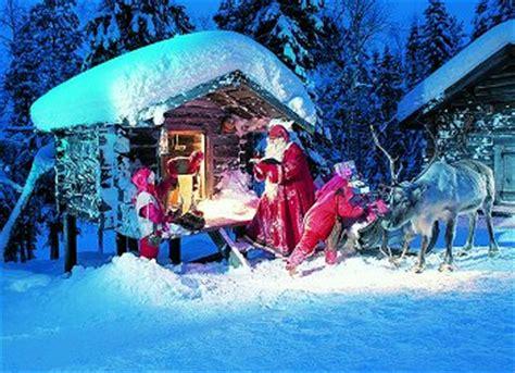 casa di babbo natale in lapponia rovaniemi dicembre in lapponia a casa di babbo natale