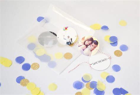 Hochzeitseinladung Konfetti by Drei Tolle Save The Date Ideen Zum Selbermachen Evet Ich