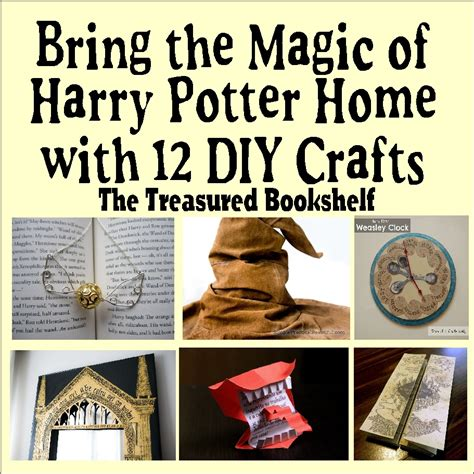easy harry potter crafts for thetreasuredbookshelf june 2016