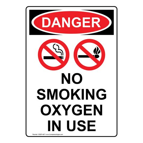 no smoking oxygen in use sign r5400 by safetysign com portrait osha no smoking oxygen in use sign with symbol